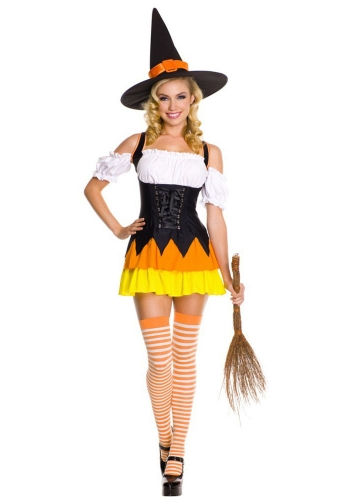 chic womens candy corn witch costume witch costumes