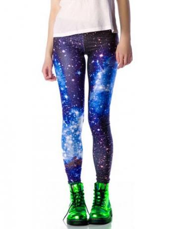 Purple Outer Space Star Dreamlike Lightspot Galaxy Leggings