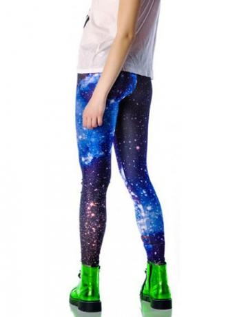 Purple Outer Space Star Dreamlike Lightspot Galaxy Leggings