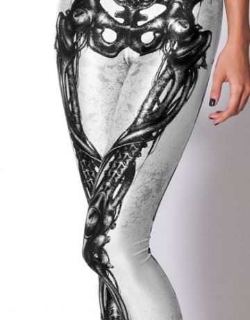 Girls Black Lower Limb Bones Skeleton Leggings
