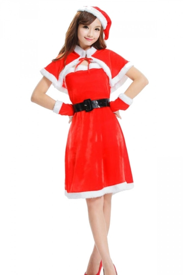 23.21$! Cute Girls Christmas Miss Santa Claus Costume With Cape ...