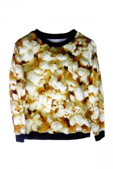 Popcorn Print Sweatshirt