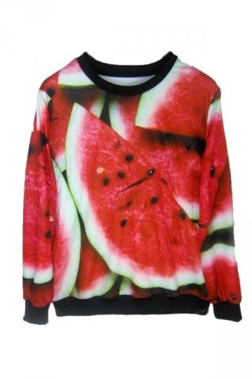 Watermelon Print Sweatshirt