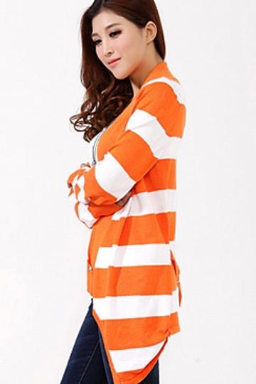 Classic Office Striped Cardigan Sweater