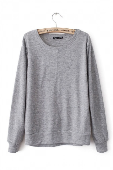 Round Long Sleeve Pullover Sweater Sweater