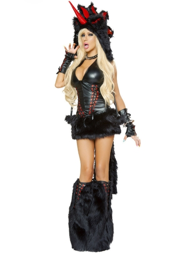 black vinyl unicorn girl halloween costume - Halloween Costume Monster