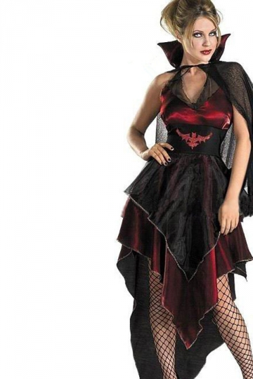 Black Womens Evil Celebrity Vampire Halloween Costume
