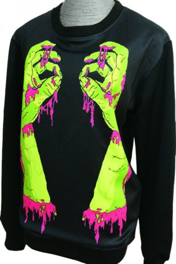 Hands Of Ripper Printed Sweatshirt