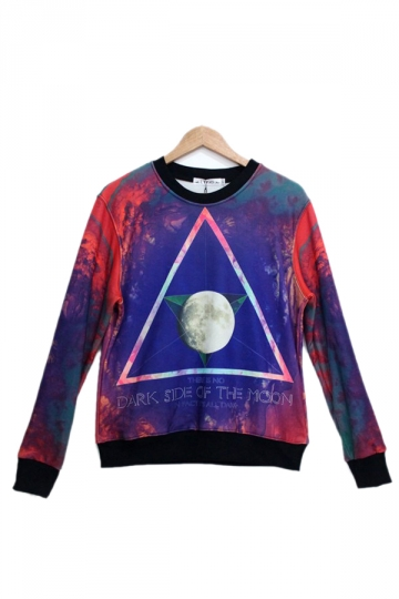 Blue Triangle Star Printed Sweatshirt