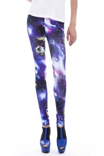 Purple Universe Starry Sky Womens Galaxy Leggings