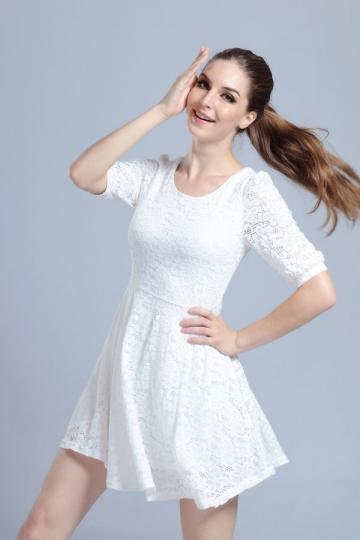 Images of Semi Formal White Dresses - Reikian