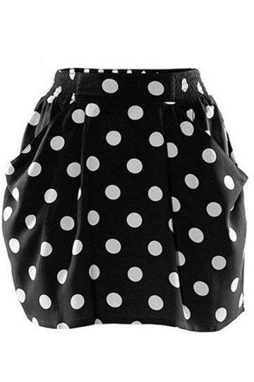 Polka Dot Bubble Skirt