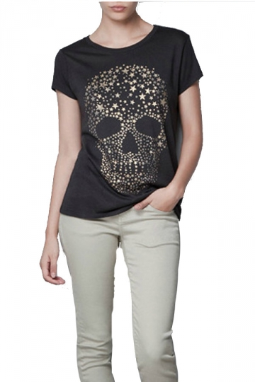Short Sleeve Star Skull T-shirt