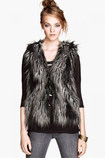 Faux Fur Womens Sleeveless Slim Cool Vest