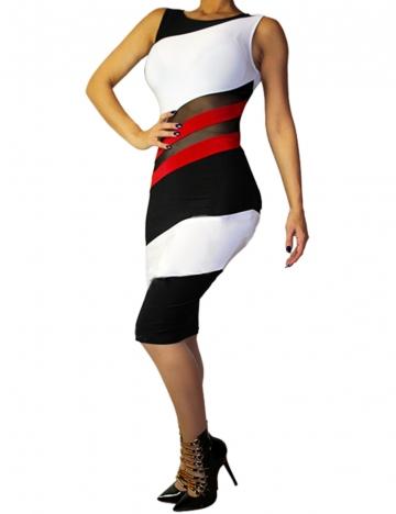White Bodycon Mesh Bandage Sleeveless Club Dress