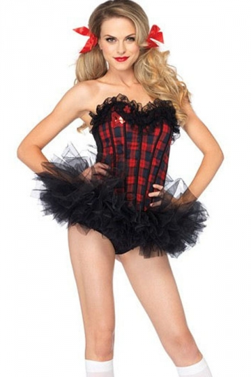 cute school girls sweet corset halloween costume - Corsets Halloween Costumes