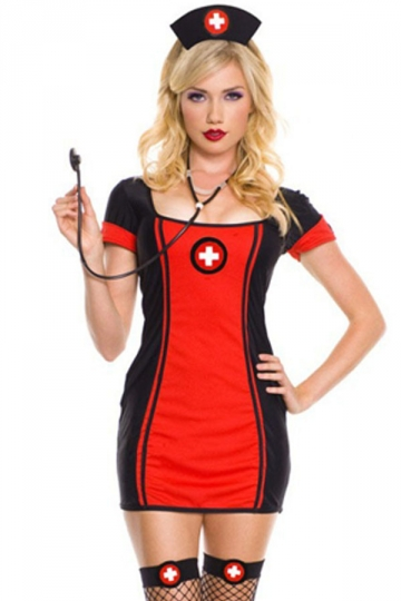 sexy lace up back nurse dress costume - Halloween Costume Pink Dress