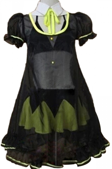 Vocaloid Hatsune Miku Black & Yellow Cosplay Halloween Costume