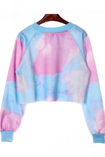 Cool Ladies Crew Neck Long Sleeve Letter Printed Sweatshirt