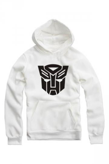 Trendy Ladies Long Sleeves Pullover Transformers Printed Hoody
