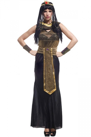 Black Retro Ladies Egyptian Queen Halloween Costume - PINK QUEEN