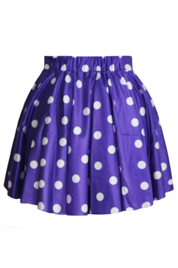 Awesome Ladies Polka Dot Pleated Skirt