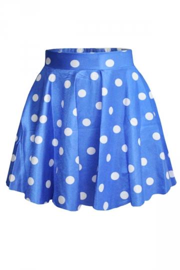 Charming Girls Polka Dot Pleated Skirt