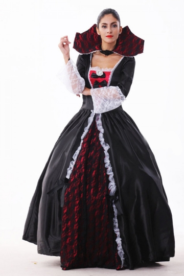 Black Queen Halloween Vampire Costume - PINK QUEEN