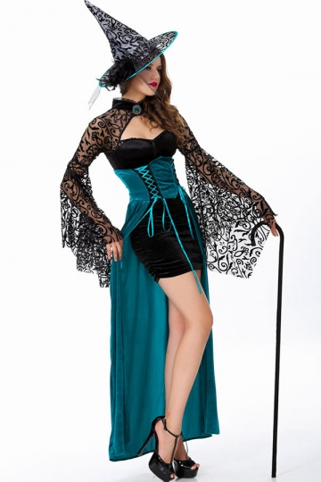 Modern Ladies Goth Halloween Witch Costume