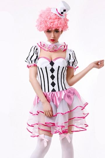 Pink Chic Womens Halloween Ruffle Circus Costume