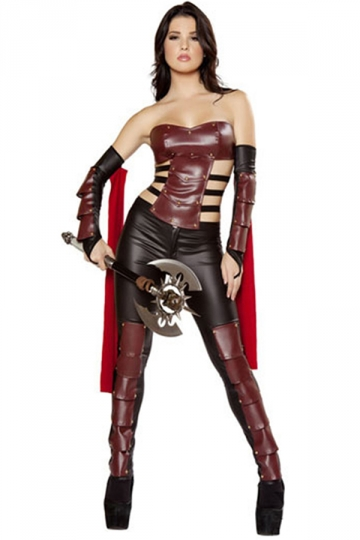 Black Ladies Warrior Superhero Halloween Costume
