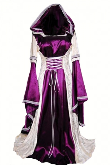 Purple Ladies Halloween Medieval Renaissance Dress Costume