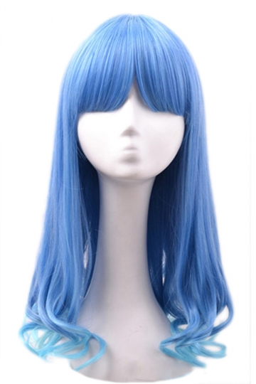 Blue Ladies Rinka Haircut Cute Wig
