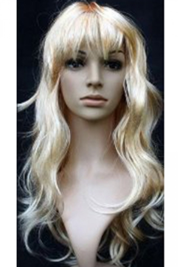 Gold Cute Cosplay Ladies Curly Hair Wig
