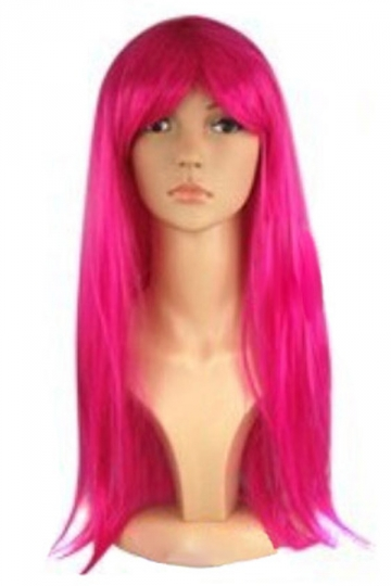 Rose Red Cosplay Classic Womens Straight Hair Wig