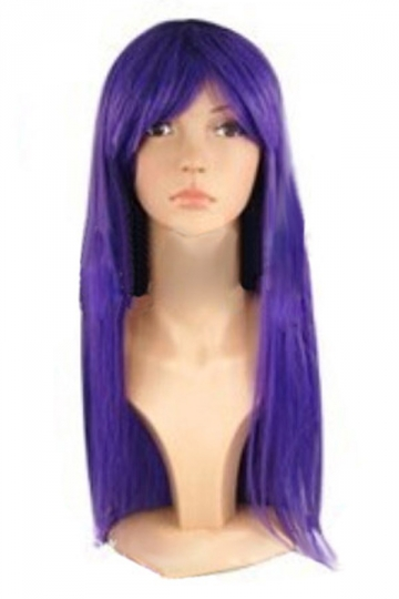 Purple Cosplay Classic Womens Straight Hair Wig