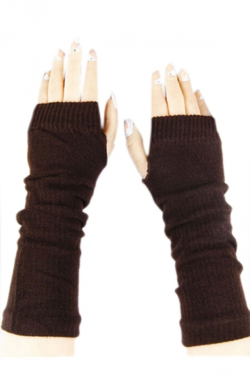 Coffee Ladies Cute Fingerless Winter Classic Warm Gloves