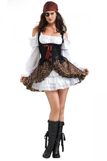 Black Popular Sexy Off Shoulder Pirate Halloween Costume