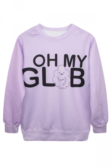 Chic Ladies Oh My Glob Cloud Pullover Crew Neck Print Sweatshirt
