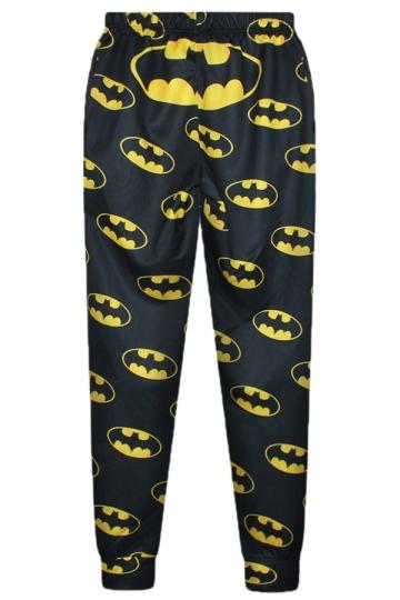 Black Chic Womens Batman Printed Cute Leisure Pants