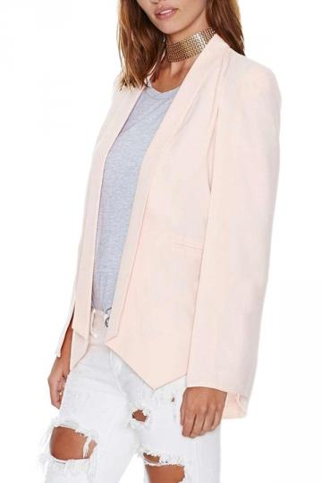 Pink Pretty Womens Opened Sleeve Cape Blazer