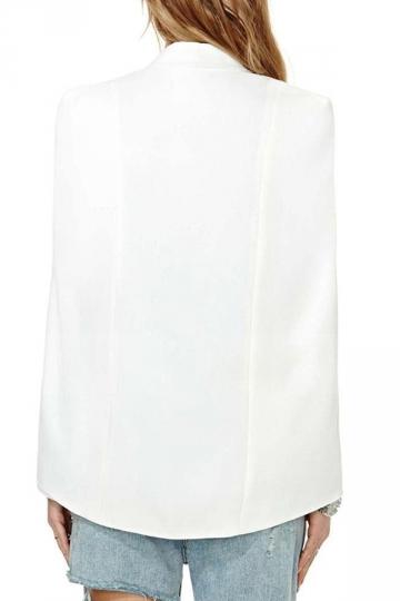 White Pretty Womens Opened Sleeve Cape Blazer