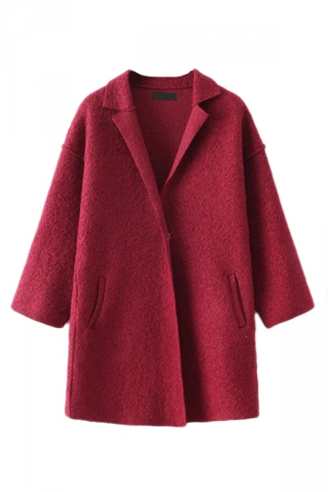 Ruby Womens Fancy Loose Long Warm Winter Tweed Coat