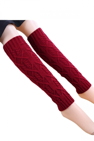 Ruby Trendy Womens Warm Winter Argyle Knitted Leg Warmers
