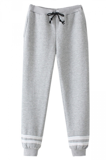 Gray Casual Womens Cool Sweatpants Loose Leisure Pants