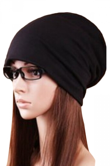 Black Trendy Ladies Plain Cool Hip-pop Hat Cap Hat