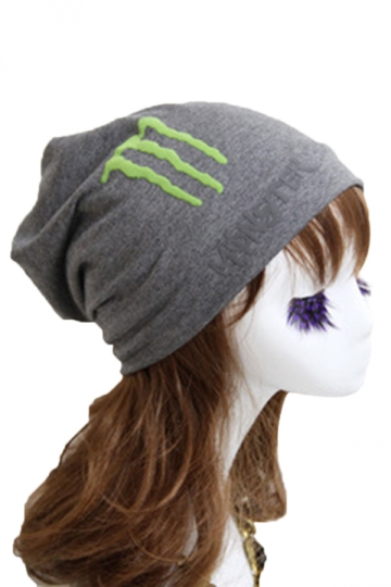 Gray Trendy Womens Lined Hip-pop Hat Fluorescence Cap Hat