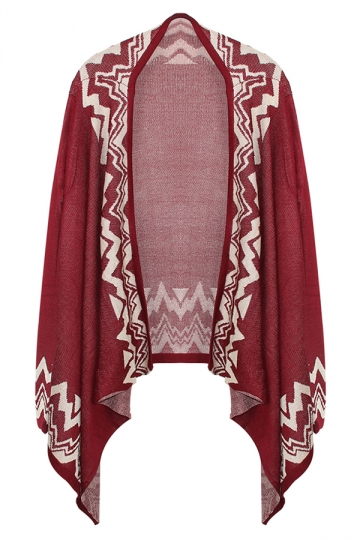 Ruby Ladies Long Sleeve Bohemian Patterned Cardigan Sweater