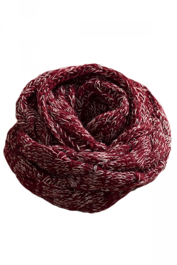 Ruby Sexy Ladies Gradient Circular Scarf Knitted Plain Scarf