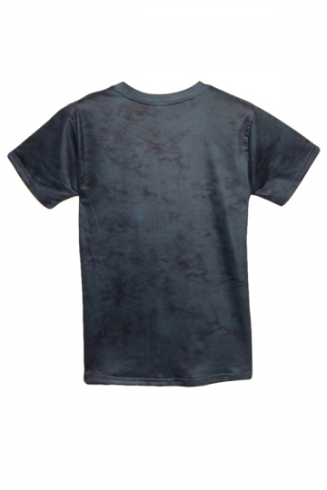 Navy Blue Dinosaur Printed Crew Neck Womens T Shirt